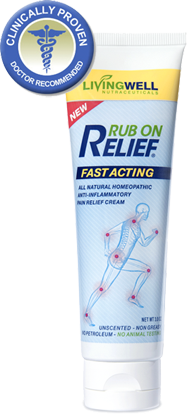 Pix showing tube of Rub On Relief cream